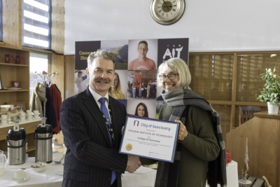 Humanitarian work and spirit of inclusion rewarded as AIT is awarded the first College of Sanctuary in Ireland
