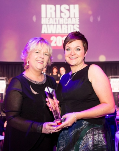 Laura Tully wins 'Practice Nurse of the Year' award at the Irish Healthcare Awards 2017