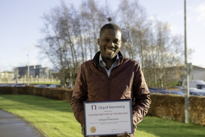 "Walking back to happiness! Every day asylum seeker Sam ""walks away from depression and towards a brighter future"" in AIT"