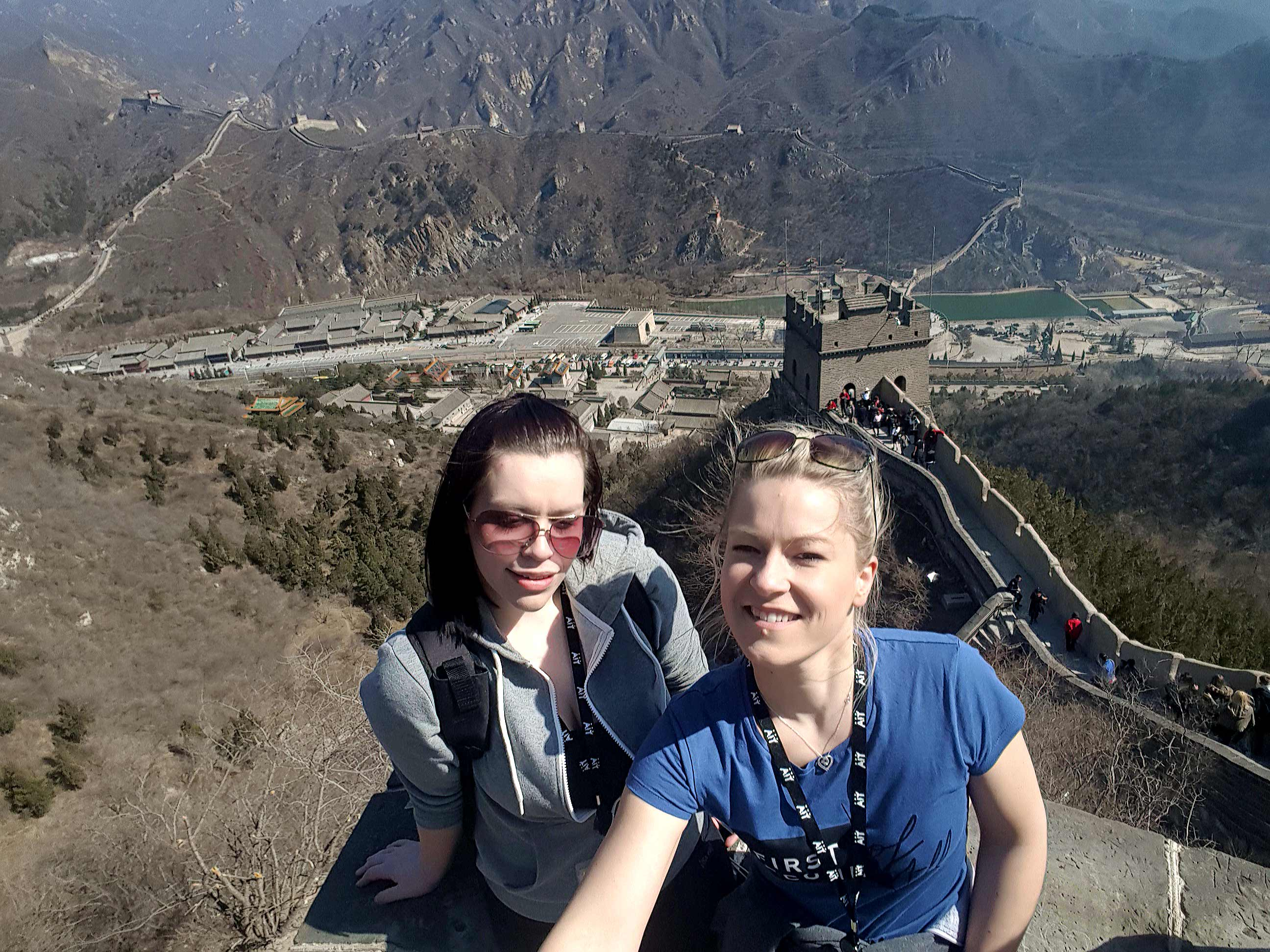 Hospitality students on the Great Wall of China