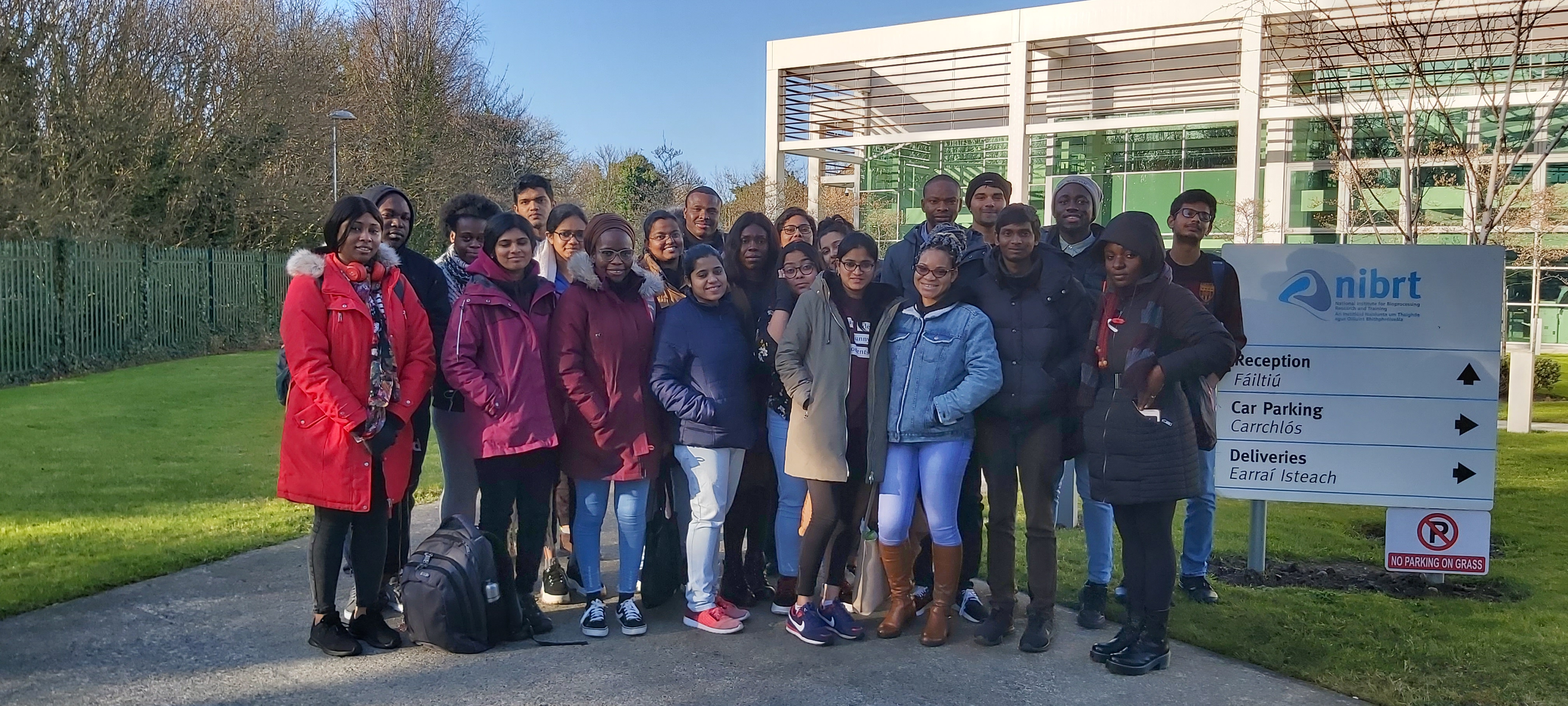 Visit of 2020 MSc in Biopharmaceutical Technology Class to National Bioprocessing Research and Training (NIBRT) at UCD