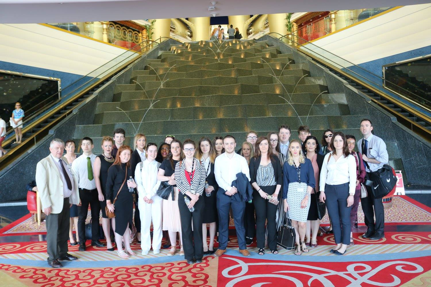 Hospitality students in the Burj al Arab, Dubai