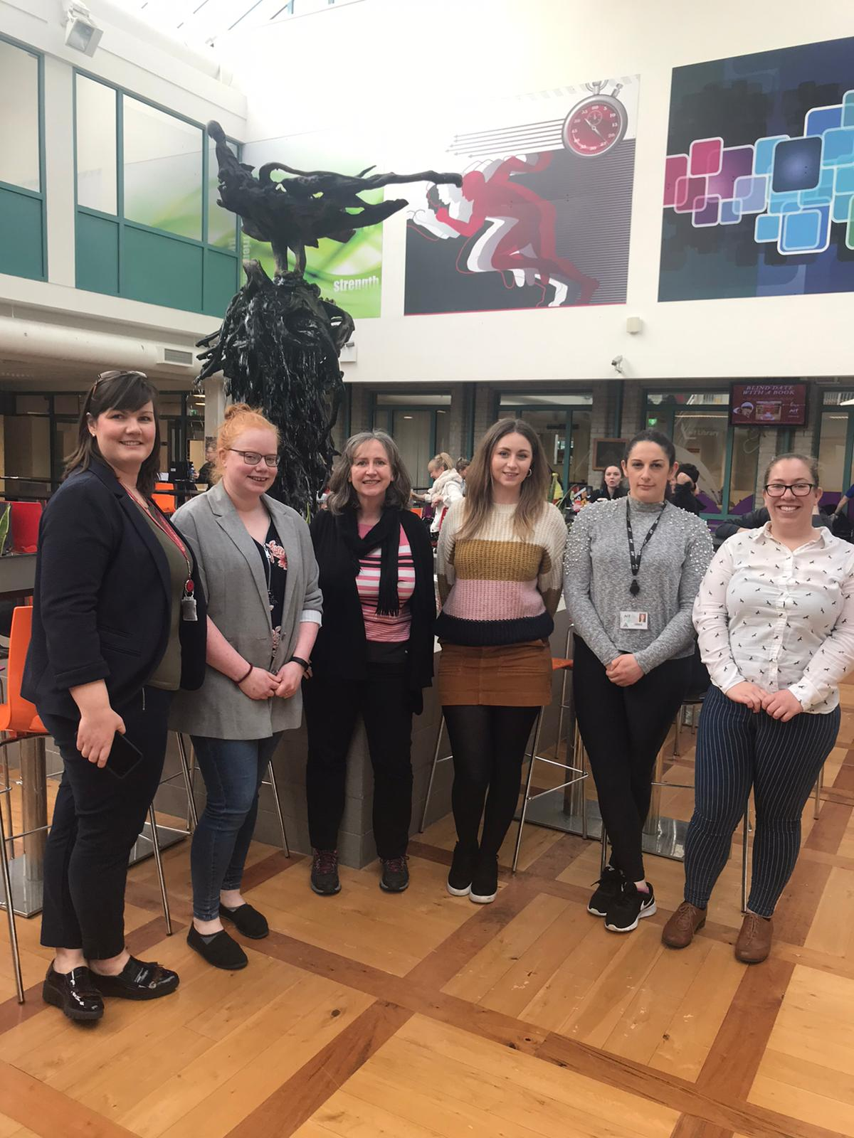 Career talks in Applied Bioscience given to students of the BSc(Hons) in Bioveterinary Science programme. Included are the Programme Coordinator, Dr. Sile O'Flaherty and Gillian Coughlan, Lecturer in Veterinary Nursing