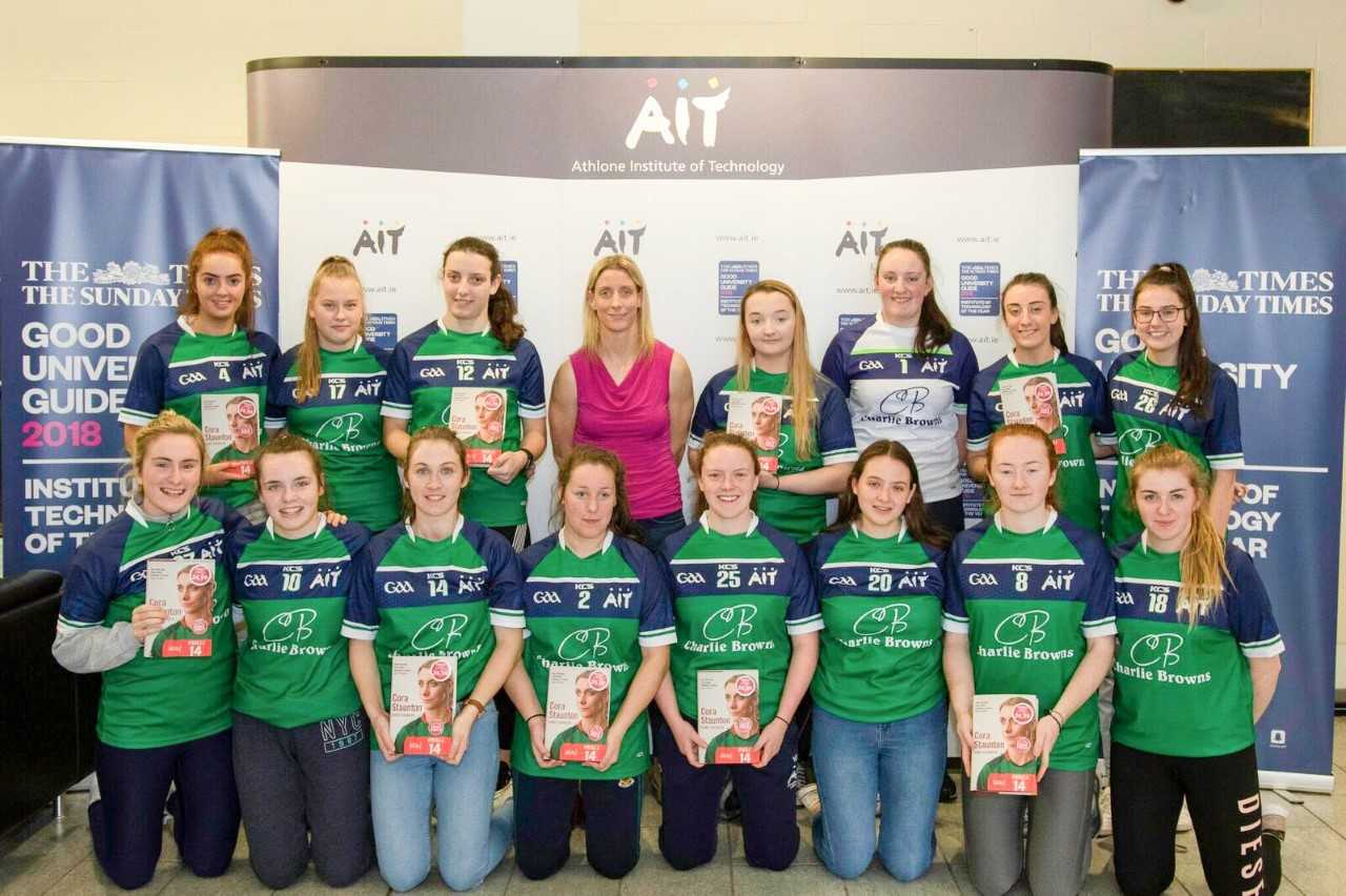Pictured: Cora Staunton with the AIT Ladies GAA Football Team