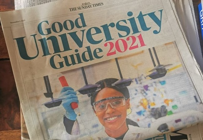 The Sunday Times Good University Guide 2021 Cropped