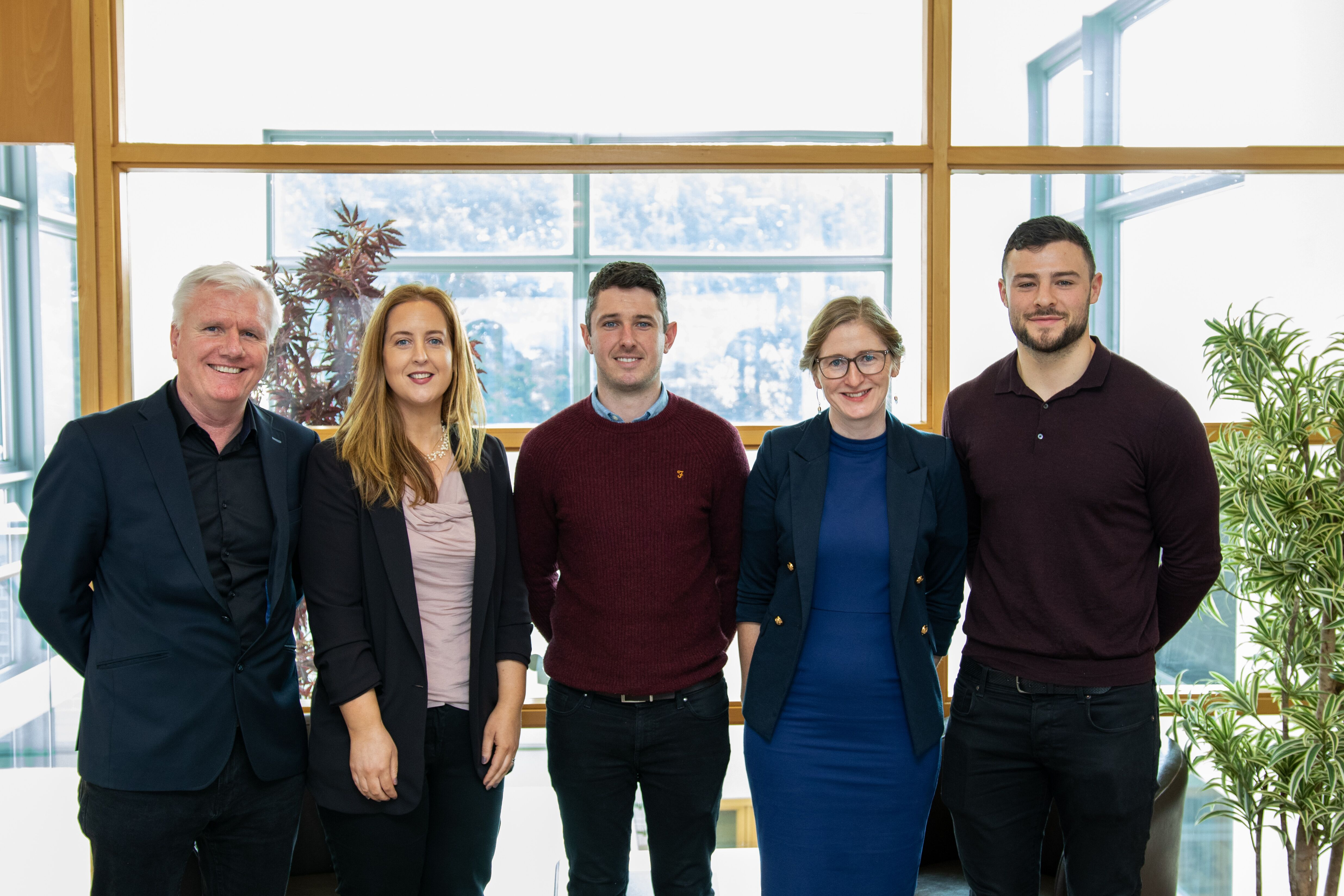 Pictured: Eugene Matthews, Aisling Keenan, Mark Lynch, Louise Murray and Robbie Henshaw
