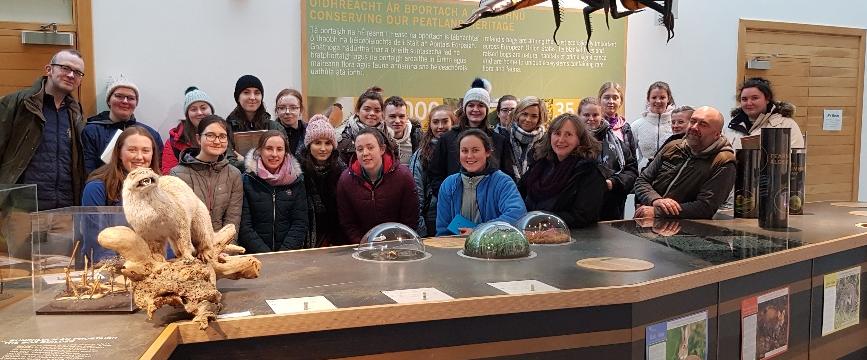 Visit of BSc(Hons) in Appled Bioscience to Clara Bog Museum